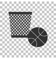 Trash sign Dark gray icon on vector image