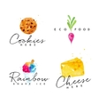 Watercolor label cheese vector image