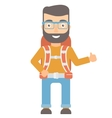 Hiker giving thumbs up vector image