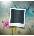 Photo on grunge background vector image vector image