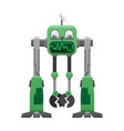 green iron robot with satellite dish vector image