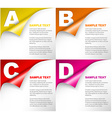 One two three four - progress background with vector image vector image