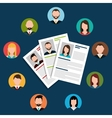Find person for job opportunity design vector image