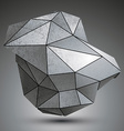 Deformed dimensional tech grayscale object 3d vector image