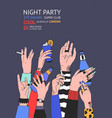 colorful flyer or night club party invitation vector image