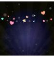 colorful vivid lantern bokeh light in festival vector image