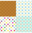 four retro abstract seamless simple patterns eps10 vector image