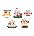 Pizza banners labels and signs vector image