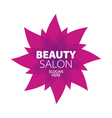 Abstract logo for beauty in the form of a red star vector image vector image