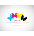 Butterfly cmyk vector image vector image