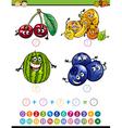 math task cartoon vector image vector image