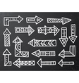 Hand drawn arrow icons set on black vector image vector image