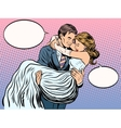 just married loving couple vector image