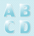 Blue alphabe vector image
