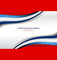 american wave background vector image