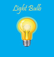 glowing yellow light bulb vector image