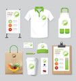 health beauty shop set flyer menu package t-shirt vector image