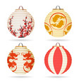 japanese paper lantern set vector image