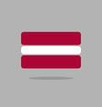 Latvia flag Stylized Latvian flag of geometrical vector image