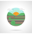 Meadow detailed flat color icon vector image