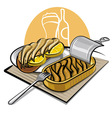 sprats in oil with sandwich vector image