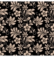 Vintage floral wallpaper seamless pattern vector image