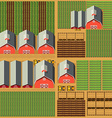 Aerial scene with barns and crops vector image