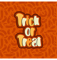 trick or treat lettering text vector image