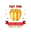 Onion Rings Fast Food meal emblem vector image