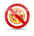 No Pizza sign vector image