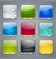 Glossy button icons vector image vector image