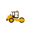 icon paver men at work construction machinery vector image