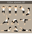 Yoga asanas set vector image