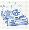 musical player vector image vector image