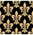 Black and golden fleur-de-lis pattern vector image