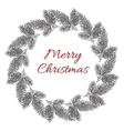 Vintage engraving Christmas wreath vector image vector image