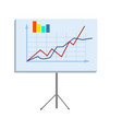 business chart on stand isolated vector image