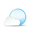 circle with cloud on white background vector image