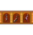Ethnic dance african people vector image