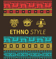 ethno banner with tribal symbols vector image