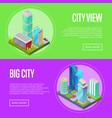 futuristic architecture cityscape banners set vector image