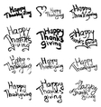 happy thanksgiving collection vector image
