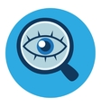 Magnifying glass and eye icon in flat style vector image