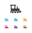 of kid symbol on train icon vector image