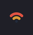 Wifi signal computer symbol vector image