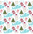 Winter holiday pattern Cute new year seamless vector image