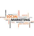 word cloud social marketing vector image