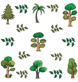 Doodle of tree palm leaf vector image