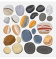 River stones isolated on white background vector image