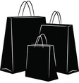 Shopping bags silhouettes vector image